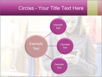 Woman Chatting With Cell Phone PowerPoint Template - Slide 79