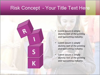 Woman Chatting With Cell Phone PowerPoint Template - Slide 81