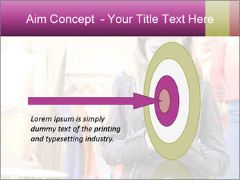 Woman Chatting With Cell Phone PowerPoint Template - Slide 83