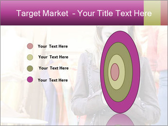 Woman Chatting With Cell Phone PowerPoint Template - Slide 84