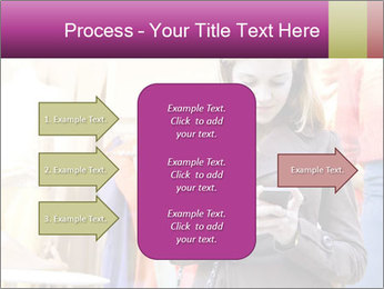 Woman Chatting With Cell Phone PowerPoint Template - Slide 85