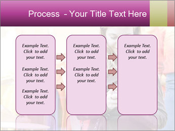 Woman Chatting With Cell Phone PowerPoint Template - Slide 86
