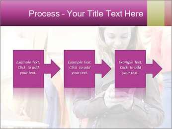 Woman Chatting With Cell Phone PowerPoint Template - Slide 88