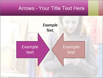 Woman Chatting With Cell Phone PowerPoint Template - Slide 90