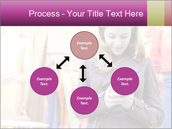 Woman Chatting With Cell Phone PowerPoint Template - Slide 91