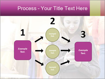 Woman Chatting With Cell Phone PowerPoint Template - Slide 92