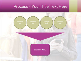 Woman Chatting With Cell Phone PowerPoint Template - Slide 93