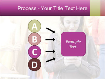 Woman Chatting With Cell Phone PowerPoint Template - Slide 94