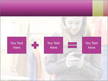 Woman Chatting With Cell Phone PowerPoint Template - Slide 95