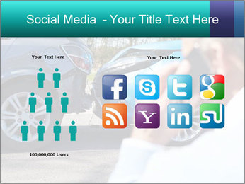 Man Calling Car Insurance PowerPoint Template - Slide 5