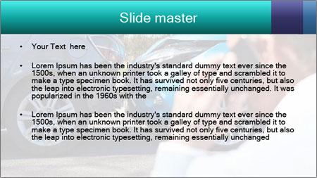 Man Calling Car Insurance PowerPoint Template - Slide 2
