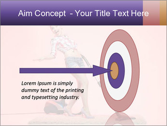 Pinup Woman With Vacuum Cleaner PowerPoint Templates - Slide 83
