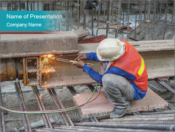 Skilled Workman PowerPoint Template - Slide 1