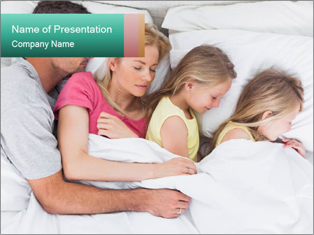 Family Sleeping Together PowerPoint Templates