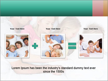Family Sleeping Together PowerPoint Templates - Slide 22