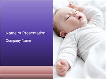 Baby In Sleep PowerPoint Template - Slide 1
