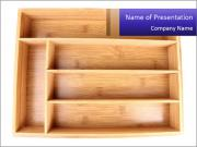 Wooden Book Shelf PowerPoint Templates