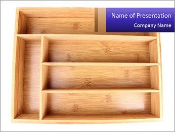 Wooden Book Shelf PowerPoint Template - Slide 1