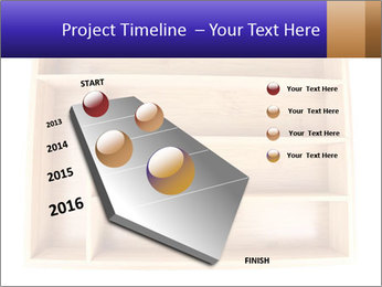 Wooden Book Shelf PowerPoint Templates - Slide 26