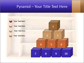 Wooden Book Shelf PowerPoint Templates - Slide 31