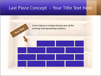 Wooden Book Shelf PowerPoint Templates - Slide 46