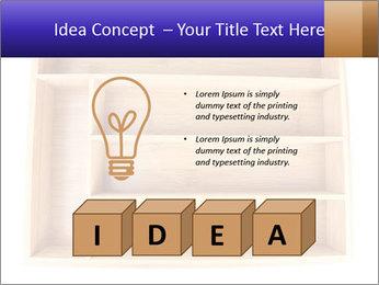 Wooden Book Shelf PowerPoint Template - Slide 80