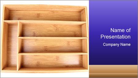 Wooden Book Shelf PowerPoint Template