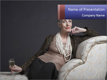 Elegant Old Lady PowerPoint Template - Slide 1