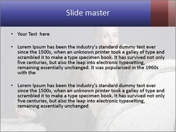 Elegant Old Lady PowerPoint Template - Slide 2