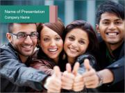 Cheerful Students Mates PowerPoint Template