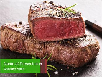 Porterhouse Steak PowerPoint Template