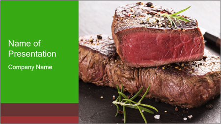 Porterhouse Steak PowerPoint Template