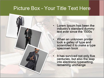 Concentrated Man PowerPoint Template - Slide 17