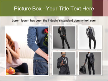 Concentrated Man PowerPoint Template - Slide 19