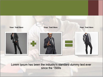 Concentrated Man PowerPoint Template - Slide 22