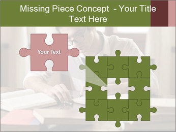 Concentrated Man PowerPoint Template - Slide 45