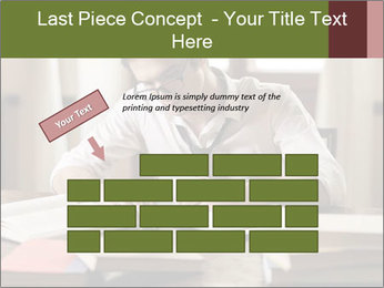 Concentrated Man PowerPoint Template - Slide 46