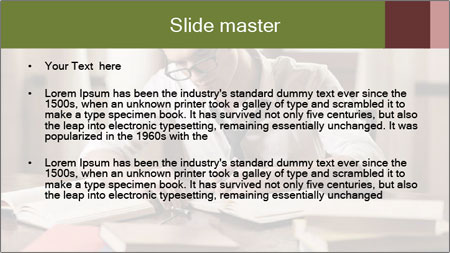 Concentrated Man PowerPoint Template - Slide 2