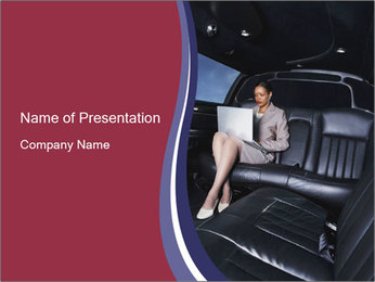 Businesswoman In Limousine Plantillas de Presentaciones PowerPoint