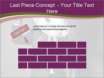 Man In White Rabbit Mask PowerPoint Template - Slide 46