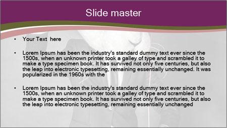 Man In White Rabbit Mask PowerPoint Template - Slide 2