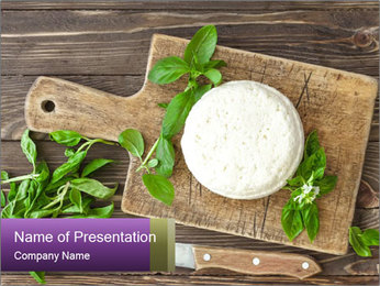 Italian Cheese Wheel PowerPoint Templates - Slide 1