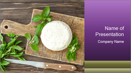 Italian Cheese Wheel PowerPoint Template