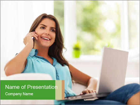 Housewife Freelancer PowerPoint Template