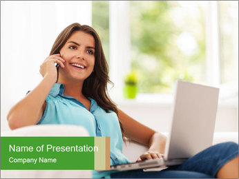 Housewife Freelancer PowerPoint Template - Slide 1