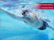 Swimmer Under Water PowerPoint Templates