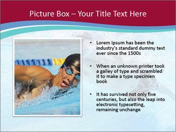 Swimmer Under Water PowerPoint Template - Slide 13