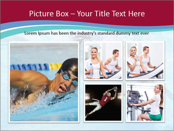 Swimmer Under Water PowerPoint Templates - Slide 19