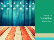 USA Vintage Flag PowerPoint Templates