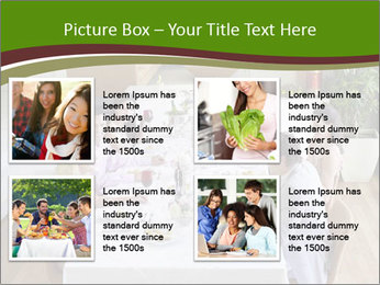 Big Family Having Dinner Together PowerPoint Templates - Slide 14